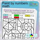 Paint by numbers fun math puzzles (7 distance learning wor