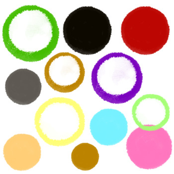Paint circles and rings clip art