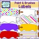 Paint and Brushes labels clip art
