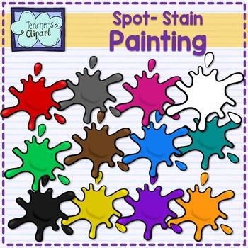 Paint spot - stain clip art