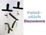 Paint-stick Snowman