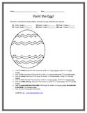 Paint the Egg Easter Math Sheet