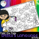 Paint the Page! Speech and Language Worksheets