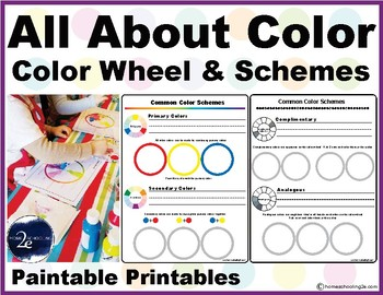 Color Wheel and Color Schemes Paintable Printable