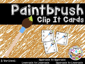 Paintbrush ABC Clip It Cards-3 Versions
