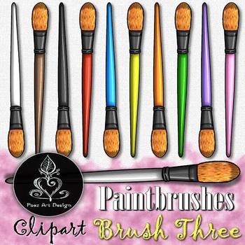 Paintbrush CLIPART: Filbert Tip - Brush THREE {Paez Art Design}