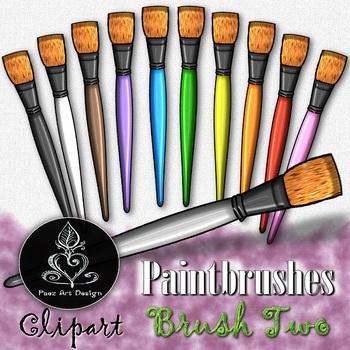Paintbrush CLIPART: Bright Tip - Brush TWO {Paez Art Design}