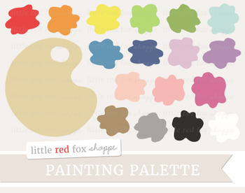 Paint Palette Clipart; Painting, Splatter, Art Supplies