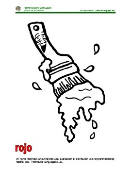 Paintbrush - Coloring pages