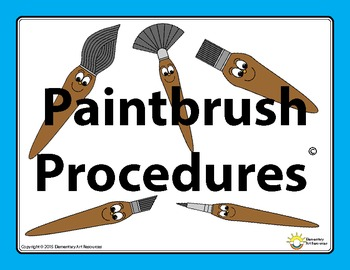 Paintbrush Painting Procedures How To Clean And Care - Elementary Art