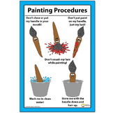 "12"" x 18"" Paintbrush Painting Procedures How To Clean And Care - Elementary Art"