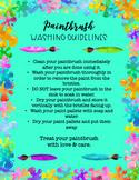 Paintbrush Washing Guidelines Poster/Printable