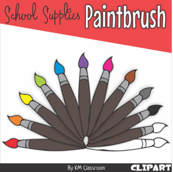 Paintbrush in Rainbow Colors - Clip Art