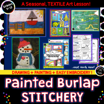 Painted Burlap Stitchery - Easy Textile Art with 7 Basic Embroidery Stitches