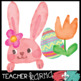 Painted Easter Graphics Kit * Easter Bunny