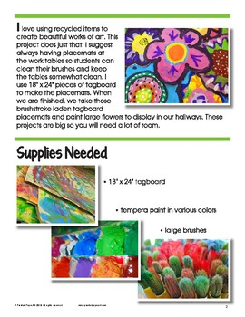 Art Lesson: Painted Flowers