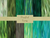 """Painted Grass Digital Papers, 12"""" x 12"""" High Resolution Di"""