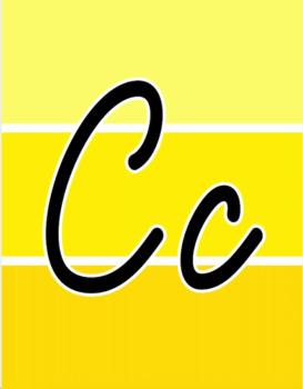 Painted Palette Cursive Alphabet