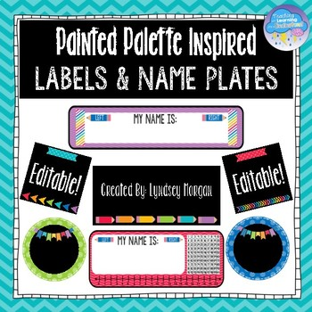 Painted Palette Inspired Classroom Labels and Name Plates