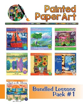 Art Lessons: Painted Paper Bundled Lessons Pack #1