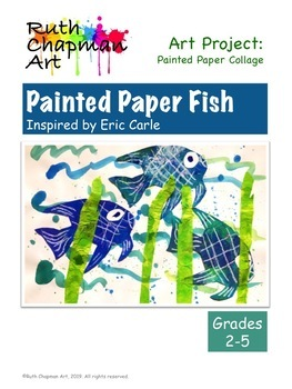 Painted Paper Fish: Art Lesson for Grades 2-5