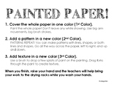 Painted Paper Instructions K - 5th