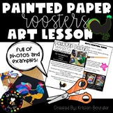 Painted Paper Rooster Art Lesson