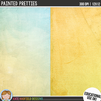 Painted Pretties Digital Papers