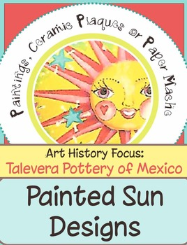 Painted Sun Plaques- Clay or Paper Mache