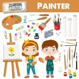 Painter Clipart Art Class Graphics Painting Clipart Art Cl