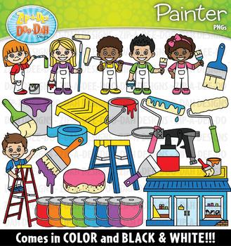 Painter Community Helpers Clipart {Zip-A-Dee-Doo-Dah Designs}
