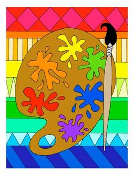 Painter's Palette DESIGN Coloring Page