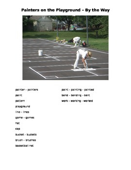 Painters on the Playground - By the Way ESOL language prompt, sub plans