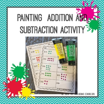 Painting Addition and Subtraction Activity - 1-15 Families