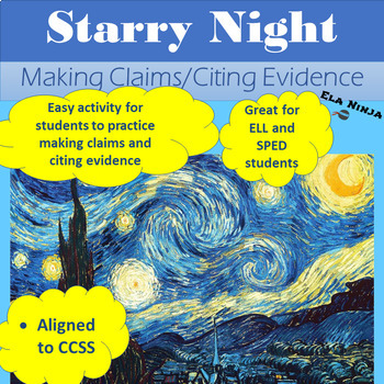 Painting Analysis- Citing Evidence: Starry Night
