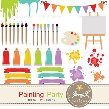 Painting / Art digital paper and clipart