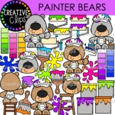 Painter Bears (Painting Clipart)