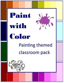 Painting Classroom Theme Set