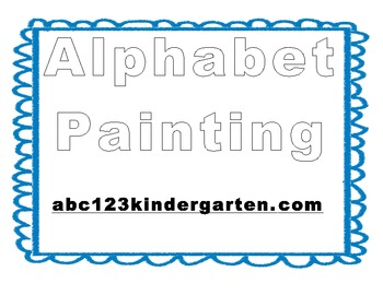 Painting Easel Alphabet Pages *FREEBIE*