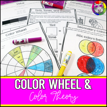 Color Wheel And Color Theory Art Lessons And Workbook By Ms Artastic