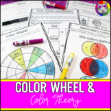 Color Wheel and Color Theory Art Lessons and Workbook