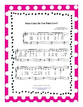 Valentine's Day Sheet Music (What Color Do You Paint Love?)