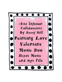 Painting Love Valentine Music Duo