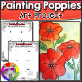 Poppy Art Lesson, Remembrance Day Memorial Day