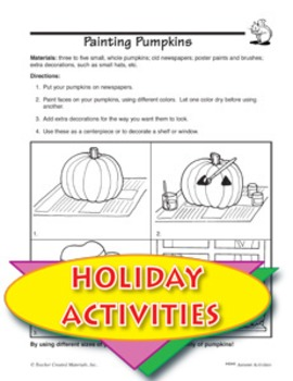 Painting Pumpkins and Other Art Activities