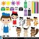 Painting Set Clipart Digital Clip Art Graphics 58 images cod11