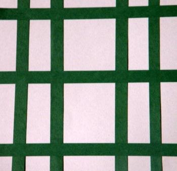 Painting-Sponge and Tape Resist