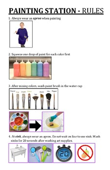 Painting Station Rules
