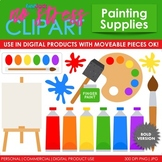 Painting Supplies Clip Art Bold Set (Digital Use Ok!)