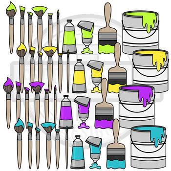 Painting Supplies Clipart   Art Class Clipart